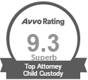 Avvo rating 9.3 Superb Top Attorney Child Custody